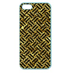 Woven2 Black Marble & Gold Foil (r) Apple Seamless Iphone 5 Case (color) by trendistuff