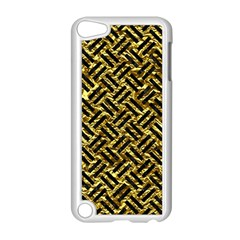Woven2 Black Marble & Gold Foil (r) Apple Ipod Touch 5 Case (white) by trendistuff
