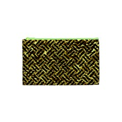 Woven2 Black Marble & Gold Foil (r) Cosmetic Bag (xs) by trendistuff