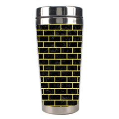 Brick1 Black Marble & Gold Glitter Stainless Steel Travel Tumblers by trendistuff