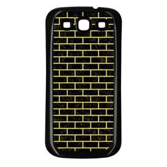 Brick1 Black Marble & Gold Glitter Samsung Galaxy S3 Back Case (black) by trendistuff