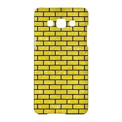 Brick1 Black Marble & Gold Glitter (r) Samsung Galaxy A5 Hardshell Case  by trendistuff