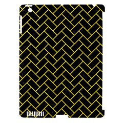 Brick2 Black Marble & Gold Glitter Apple Ipad 3/4 Hardshell Case (compatible With Smart Cover) by trendistuff