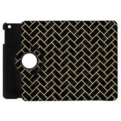 Brick2 Black Marble & Gold Glitter Apple Ipad Mini Flip 360 Case by trendistuff
