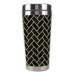 Brick2 Black Marble & Gold Glitter Stainless Steel Travel Tumblers by trendistuff