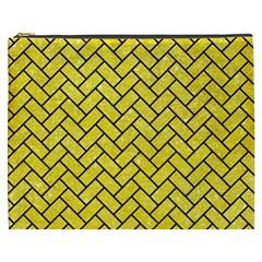 Brick2 Black Marble & Gold Glitter (r) Cosmetic Bag (xxxl)  by trendistuff