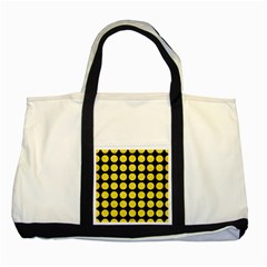 Circles1 Black Marble & Gold Glitter Two Tone Tote Bag by trendistuff