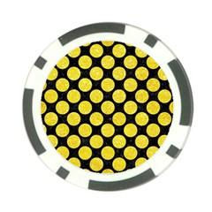 Circles2 Black Marble & Gold Glitter Poker Chip Card Guard