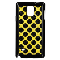 Circles2 Black Marble & Gold Glitter (r) Samsung Galaxy Note 4 Case (black) by trendistuff