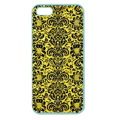 Damask2 Black Marble & Gold Glitter (r) Apple Seamless Iphone 5 Case (color) by trendistuff