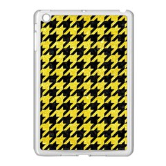 Houndstooth1 Black Marble & Gold Glitter Apple Ipad Mini Case (white) by trendistuff