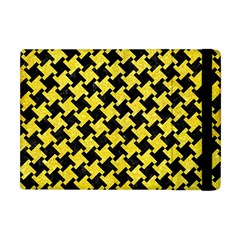 Houndstooth2 Black Marble & Gold Glitter Apple Ipad Mini Flip Case by trendistuff