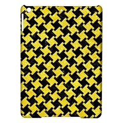 Houndstooth2 Black Marble & Gold Glitter Ipad Air Hardshell Cases by trendistuff