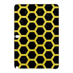 Hexagon2 Black Marble & Gold Glitter Samsung Galaxy Tab Pro 12 2 Hardshell Case by trendistuff