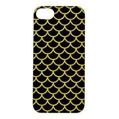 Scales1 Black Marble & Gold Glitter Apple Iphone 5s/ Se Hardshell Case by trendistuff