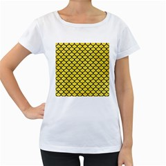 Scales1 Black Marble & Gold Glitter (r) Women s Loose Fit T Shirt (white)