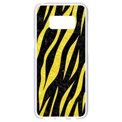 Skin3 Black Marble & Gold Glitter Samsung Galaxy S8 White Seamless Case by trendistuff