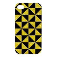 Triangle1 Black Marble & Gold Glitter Apple Iphone 4/4s Hardshell Case by trendistuff
