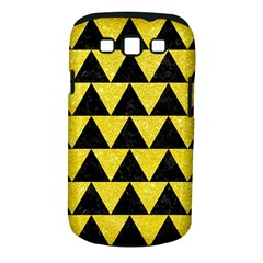Triangle2 Black Marble & Gold Glitter Samsung Galaxy S Iii Classic Hardshell Case (pc+silicone)