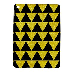 Triangle2 Black Marble & Gold Glitter Ipad Air 2 Hardshell Cases by trendistuff