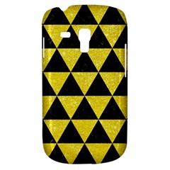 Triangle3 Black Marble & Gold Glitter Galaxy S3 Mini by trendistuff