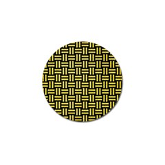 Woven1 Black Marble & Gold Glitter Golf Ball Marker (4 Pack) by trendistuff