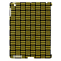 Woven1 Black Marble & Gold Glitter Apple Ipad 3/4 Hardshell Case (compatible With Smart Cover) by trendistuff