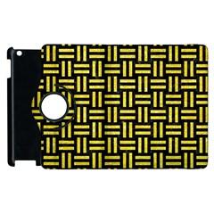 Woven1 Black Marble & Gold Glitter Apple Ipad 3/4 Flip 360 Case by trendistuff