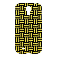 Woven1 Black Marble & Gold Glitter Samsung Galaxy S4 I9500/i9505 Hardshell Case by trendistuff