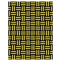 Woven1 Black Marble & Gold Glitter Drawstring Bag (large) by trendistuff
