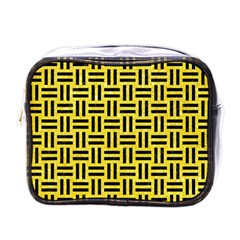 Woven1 Black Marble & Gold Glitter (r) Mini Toiletries Bags by trendistuff