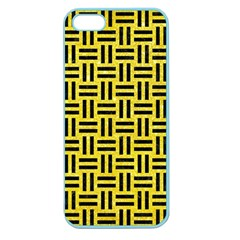Woven1 Black Marble & Gold Glitter (r) Apple Seamless Iphone 5 Case (color) by trendistuff