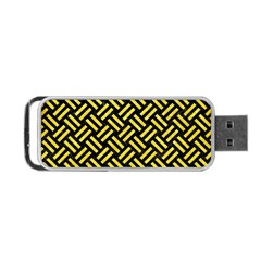 Woven2 Black Marble & Gold Glitter Portable Usb Flash (one Side) by trendistuff