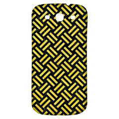 Woven2 Black Marble & Gold Glitter Samsung Galaxy S3 S Iii Classic Hardshell Back Case by trendistuff