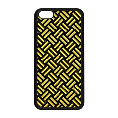 Woven2 Black Marble & Gold Glitter Apple Iphone 5c Seamless Case (black) by trendistuff