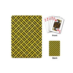 Woven2 Black Marble & Gold Glitter (r) Playing Cards (mini)  by trendistuff