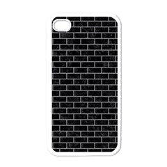 Brick1 Black Marble & Gray Colored Pencil Apple Iphone 4 Case (white) by trendistuff