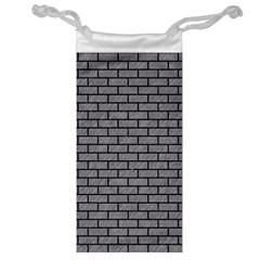 Brick1 Black Marble & Gray Colored Pencil (r) Jewelry Bag by trendistuff