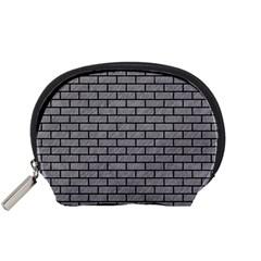 Brick1 Black Marble & Gray Colored Pencil (r) Accessory Pouches (small)  by trendistuff