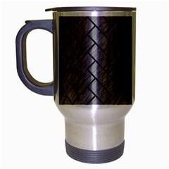 Brick2 Black Marble & Gray Colored Pencil (r) Travel Mug (silver Gray) by trendistuff