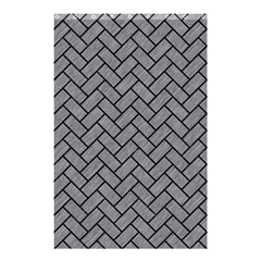 Brick2 Black Marble & Gray Colored Pencil (r) Shower Curtain 48  X 72  (small)  by trendistuff