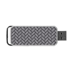 Brick2 Black Marble & Gray Colored Pencil (r) Portable Usb Flash (one Side) by trendistuff