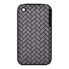 Brick2 Black Marble & Gray Colored Pencil (r) Iphone 3s/3gs by trendistuff
