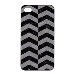Chevron2 Black Marble & Gray Colored Pencil Apple Iphone 4/4s Seamless Case (black) by trendistuff