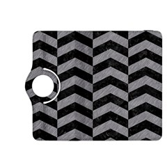 Chevron2 Black Marble & Gray Colored Pencil Kindle Fire Hdx 8 9  Flip 360 Case by trendistuff