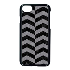 Chevron2 Black Marble & Gray Colored Pencil Apple Iphone 7 Seamless Case (black) by trendistuff