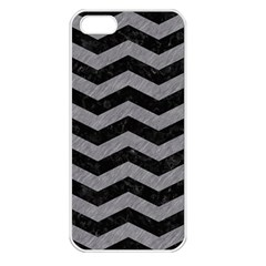 Chevron3 Black Marble & Gray Colored Pencil Apple Iphone 5 Seamless Case (white) by trendistuff