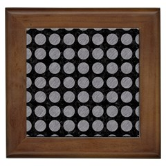 Circles1 Black Marble & Gray Colored Pencilcircle1 Black Marble & Gray Colored Pencil Framed Tiles by trendistuff