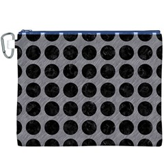 Circles1 Black Marble & Gray Colored Pencil (r) Canvas Cosmetic Bag (xxxl) by trendistuff