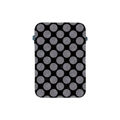 Circles2 Black Marble & Gray Colored Pencil Apple Ipad Mini Protective Soft Cases by trendistuff